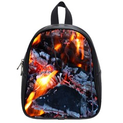 Fire Embers Flame Heat Flames Hot School Bags (small)  by Nexatart