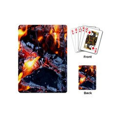 Fire Embers Flame Heat Flames Hot Playing Cards (mini)  by Nexatart