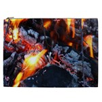Fire Embers Flame Heat Flames Hot Cosmetic Bag (XXL)  Front