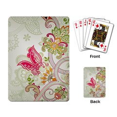Floral Pattern Background Playing Card