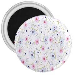 Floral Pattern Background  3  Magnets by Nexatart