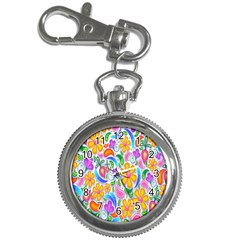 Floral Paisley Background Flower Key Chain Watches