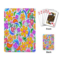 Floral Paisley Background Flower Playing Card by Nexatart