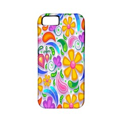 Floral Paisley Background Flower Apple Iphone 5 Classic Hardshell Case (pc+silicone) by Nexatart