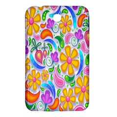 Floral Paisley Background Flower Samsung Galaxy Tab 3 (7 ) P3200 Hardshell Case  by Nexatart