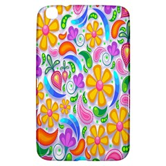 Floral Paisley Background Flower Samsung Galaxy Tab 3 (8 ) T3100 Hardshell Case  by Nexatart