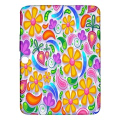 Floral Paisley Background Flower Samsung Galaxy Tab 3 (10 1 ) P5200 Hardshell Case  by Nexatart