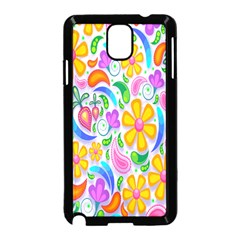 Floral Paisley Background Flower Samsung Galaxy Note 3 Neo Hardshell Case (black) by Nexatart
