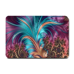 Feather Fractal Artistic Design Small Doormat