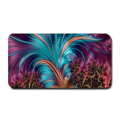 Feather Fractal Artistic Design Medium Bar Mats