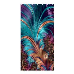 Feather Fractal Artistic Design Shower Curtain 36  X 72  (stall)  by Nexatart