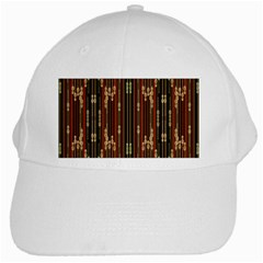 Floral Strings Pattern White Cap by Nexatart