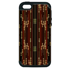 Floral Strings Pattern Apple Iphone 5 Hardshell Case (pc+silicone) by Nexatart