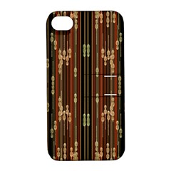 Floral Strings Pattern Apple Iphone 4/4s Hardshell Case With Stand