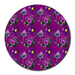 Flower Pattern Round Mousepads