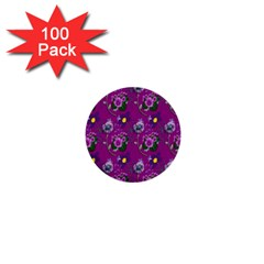Flower Pattern 1  Mini Buttons (100 Pack)