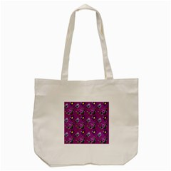 Flower Pattern Tote Bag (cream)
