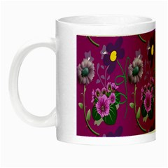 Flower Pattern Night Luminous Mugs