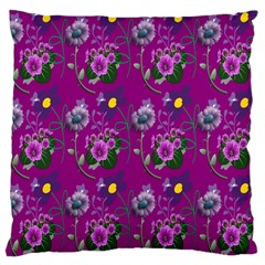 Flower Pattern Large Cushion Case (one Side) by Nexatart