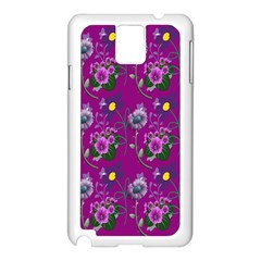 Flower Pattern Samsung Galaxy Note 3 N9005 Case (white) by Nexatart