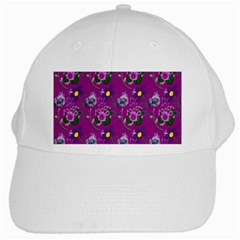 Flower Pattern White Cap
