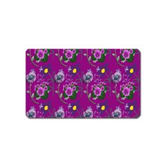 Flower Pattern Magnet (name Card)