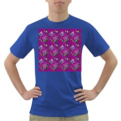 Flower Pattern Dark T Shirt