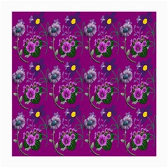 Flower Pattern Medium Glasses Cloth (2 Side) by Nexatart