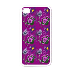 Flower Pattern Apple Iphone 4 Case (white)