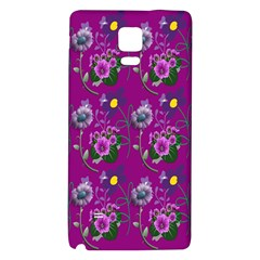 Flower Pattern Galaxy Note 4 Back Case by Nexatart