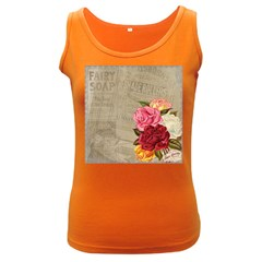 Flower Floral Bouquet Background Women s Dark Tank Top by Nexatart
