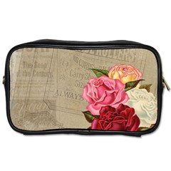 Flower Floral Bouquet Background Toiletries Bags by Nexatart
