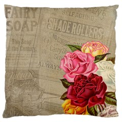 Flower Floral Bouquet Background Large Cushion Case (two Sides)