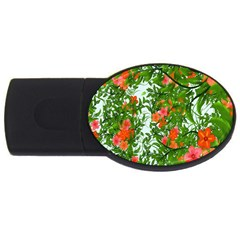 Flower Background Backdrop Pattern Usb Flash Drive Oval (4 Gb) by Nexatart