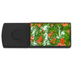 Flower Background Backdrop Pattern Usb Flash Drive Rectangular (4 Gb) by Nexatart