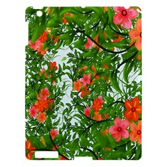 Flower Background Backdrop Pattern Apple Ipad 3/4 Hardshell Case by Nexatart