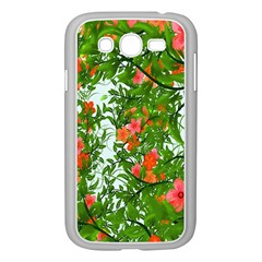 Flower Background Backdrop Pattern Samsung Galaxy Grand Duos I9082 Case (white)