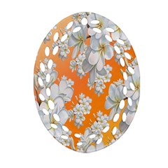 Flowers Background Backdrop Floral Ornament (oval Filigree) by Nexatart