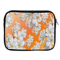 Flowers Background Backdrop Floral Apple Ipad 2/3/4 Zipper Cases by Nexatart