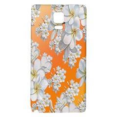 Flowers Background Backdrop Floral Galaxy Note 4 Back Case by Nexatart