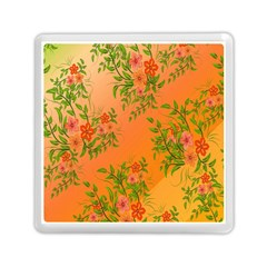 Flowers Background Backdrop Floral Memory Card Reader (square)