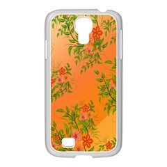 Flowers Background Backdrop Floral Samsung Galaxy S4 I9500/ I9505 Case (white) by Nexatart