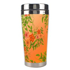 Flowers Background Backdrop Floral Stainless Steel Travel Tumblers