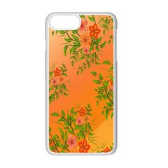 Flowers Background Backdrop Floral Apple Iphone 7 Plus White Seamless Case by Nexatart