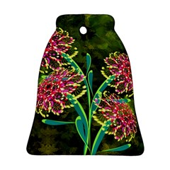 Flowers Abstract Decoration Bell Ornament (two Sides) by Nexatart