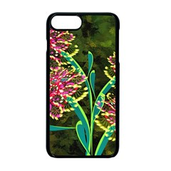 Flowers Abstract Decoration Apple Iphone 7 Plus Seamless Case (black)