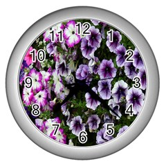 Flowers Blossom Bloom Plant Nature Wall Clocks (silver)