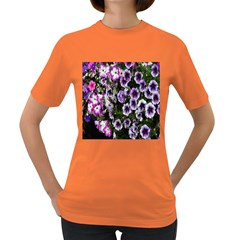 Flowers Blossom Bloom Plant Nature Women s Dark T Shirt by Nexatart