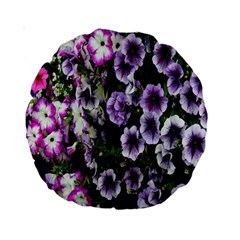 Flowers Blossom Bloom Plant Nature Standard 15  Premium Round Cushions