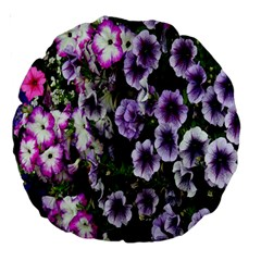 Flowers Blossom Bloom Plant Nature Large 18  Premium Round Cushions